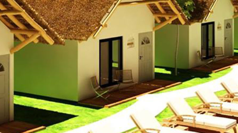 Ecovergel Tulum - Habitaciones y piscina
