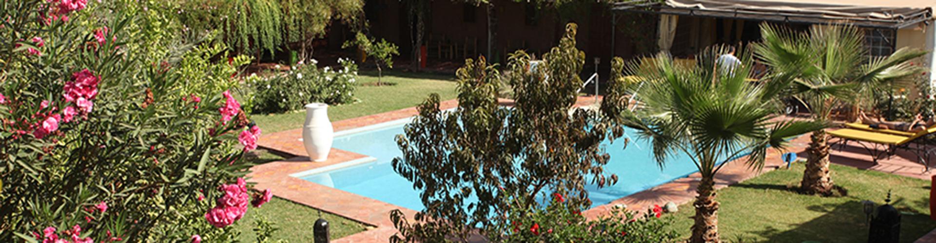 Handi Oasis. Vista del jardín