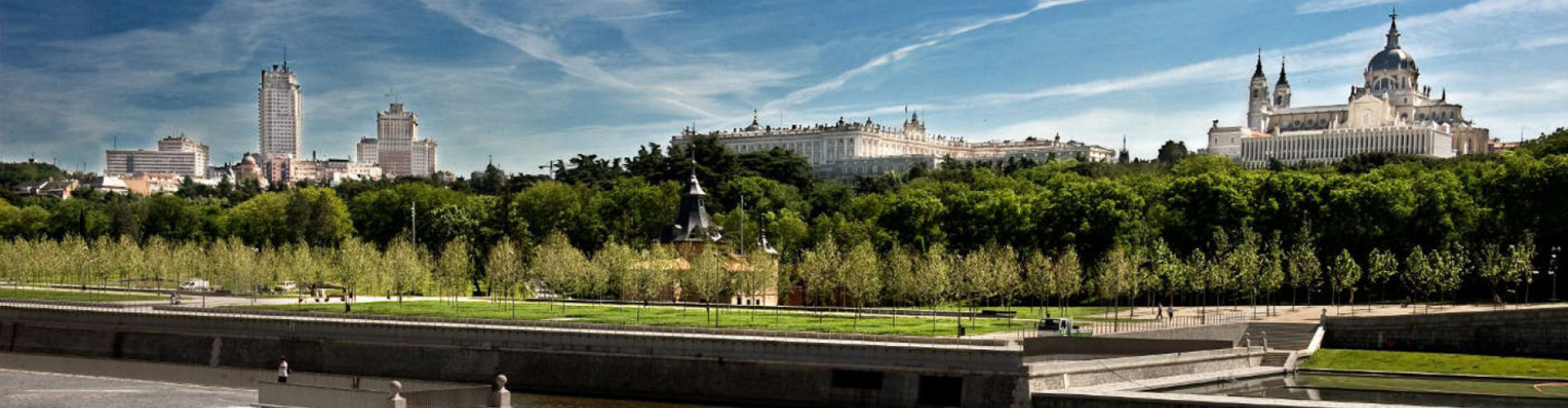Panoramica de Madrid desde el río
